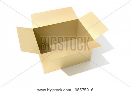 An image of a open carton box