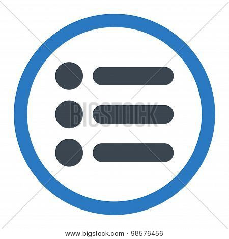 Items flat smooth blue colors rounded vector icon