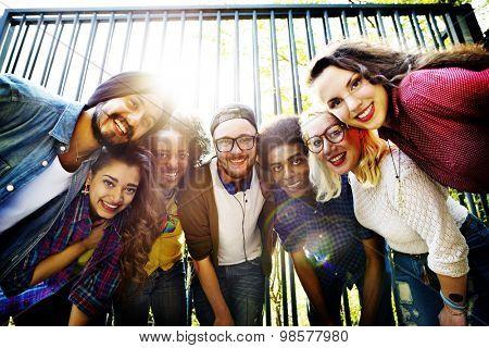 Friend Team Teamwork Unity Group Photo Designers Creative Concept