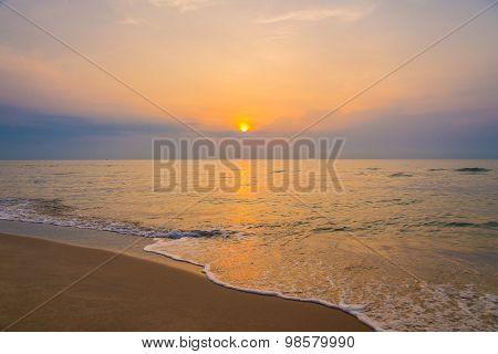 Sunrise On The Beach Of Andaman Sea.