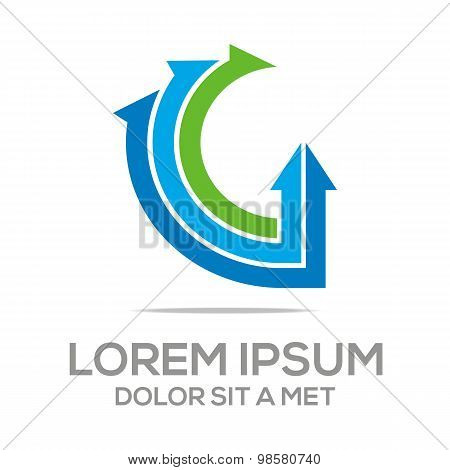 Logo design global letter g vector