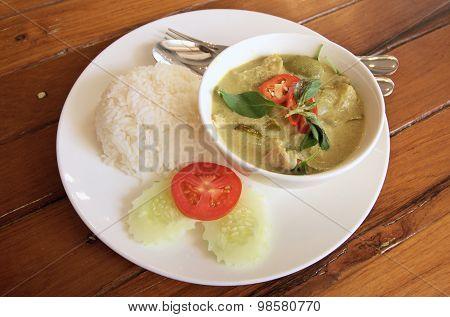 Pork Green Curry Is Thai Cuisine
