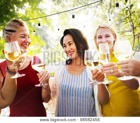 Friends Friendship Party Fun Friend Drinking People Hanging out Concept