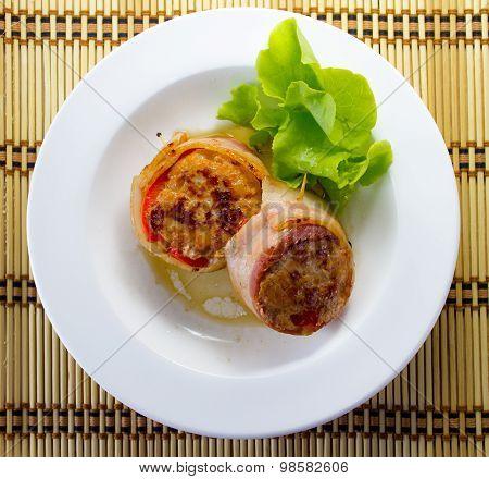 Bacon-wrapped Pork