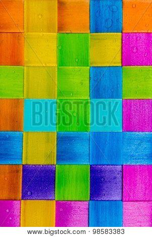 Colorful Square Plastic .