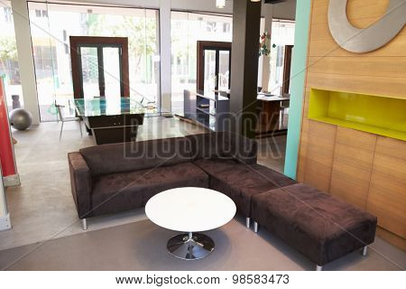 View Of Seating Area In Empty Modern Office