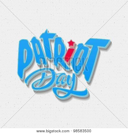 Patriot day badges logos and labels for any use