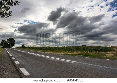 Cloudy Sky And Road