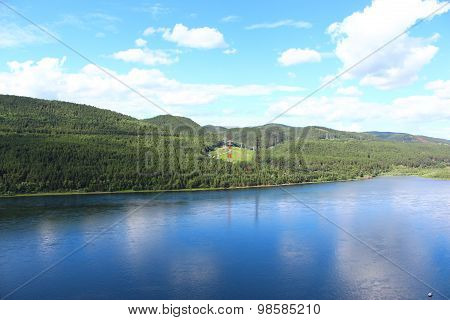 The river Yenisei near Krasnoyarsk