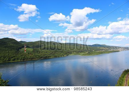 Yenisei River and its shores