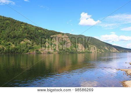 Rocky coast in Divnogorsk