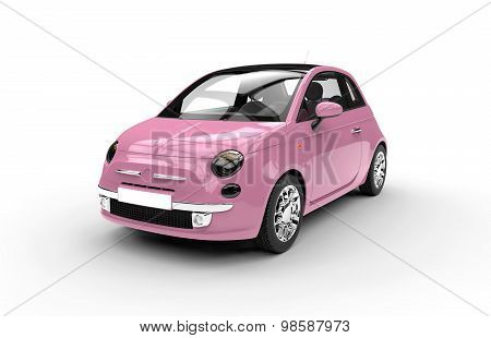 Front Of A Generic Pink City Car