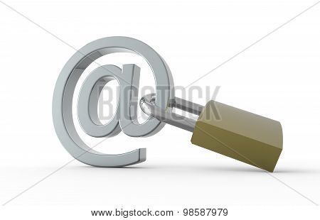 Padlock With E-mail Symbol