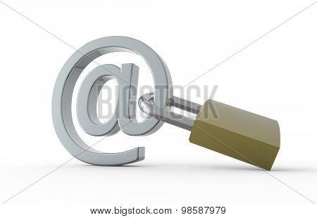 Padlock With E-mail Symbol