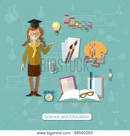 Back To School, Education, Concept, Learn, Schoolgirl, School Subjects, Open Book, College, Campus