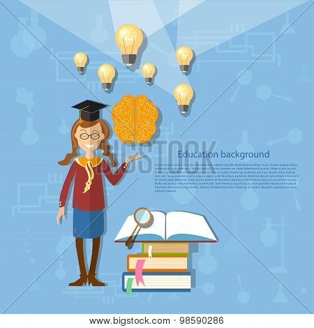 Science And Education, Schoolgirl, Student, Chemistry, Physics, The Power Of Knowledge, Learning, Ba