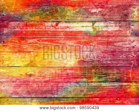 Bright Mixture Of Colours On A Textured Background