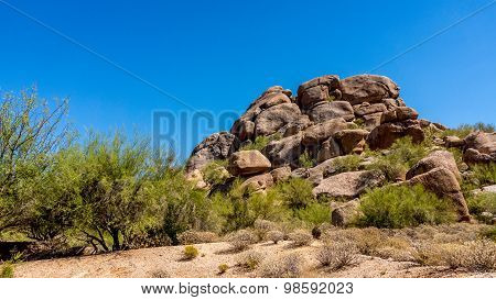 Rock outcropping in the Arizona Desert