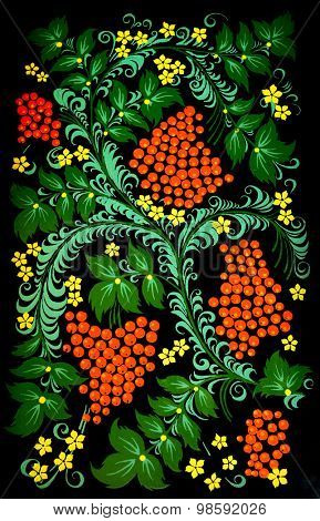 national russian hohloma handmade painted pattern