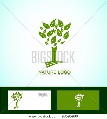 Nature Tree Bio Eco Logo