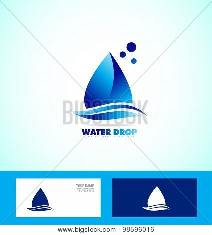 Water Drop Droplet Logo Icon Set