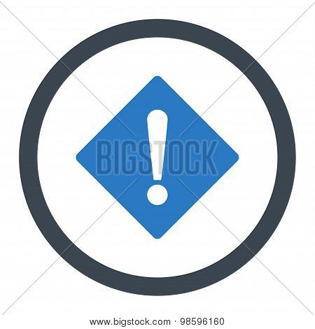 Error flat smooth blue colors rounded vector icon