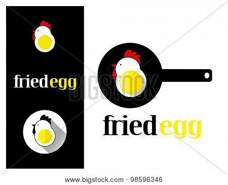 Logo Design Element Fried Egg