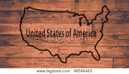 U.S.A. Map Brand
