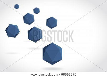 Polyhedrons Blu