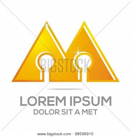 Business Creative Letter AM Company logo Design Icon