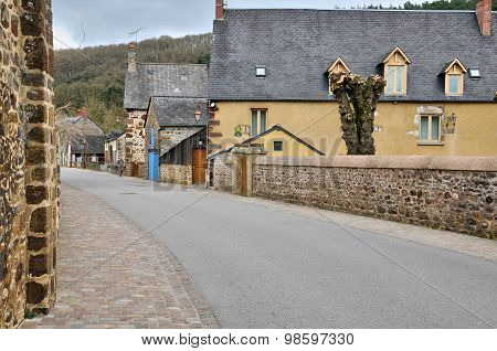 France, Picturesque Village Of Saint Leonard Des Bois
