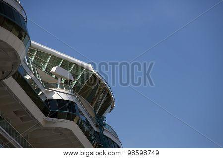 Ship Detail Under Blue Sky