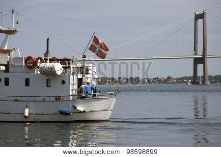 Danish Boat On Little Belt