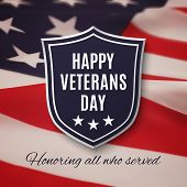 Veterans day background. poster