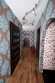 image of anteroom  - Apartment hall designed in modern retro style - JPG