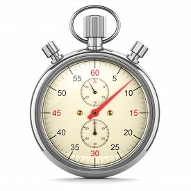 picture of countdown timer  - Stopwatch clock timer isolated on white background 3d illustration - JPG