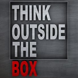 picture of thinking outside box  - Concept of  - JPG