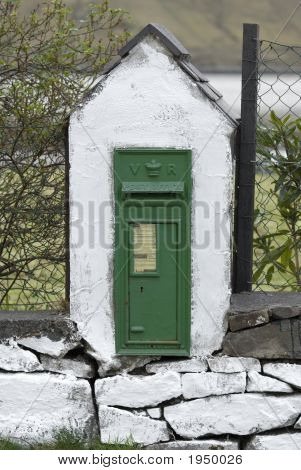 Antique Victorian Mail Box In Ireland
