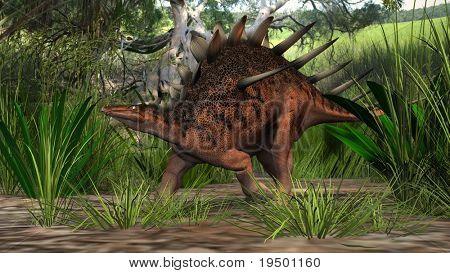 kentrosurus in jungle