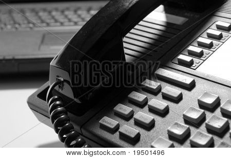 Black Phone and Computer