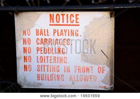 No Notice