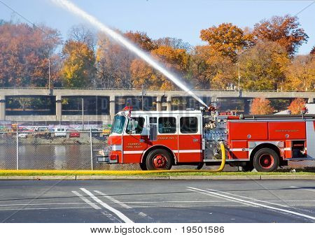 Fire Truck at Work