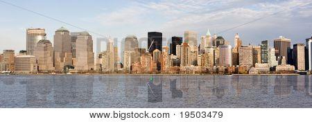 Panorama of Manhattan skyline