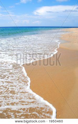 Whitewash On Tropical Caribbean Island