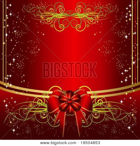 beautiful vector design with a decorative bow