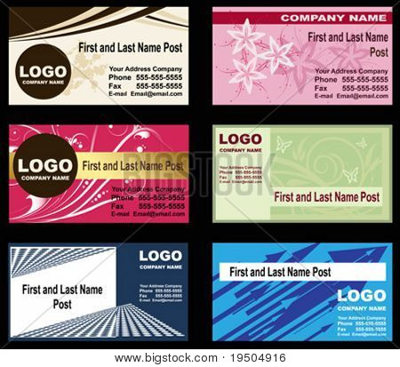 Collection business cards templates. Set 1.