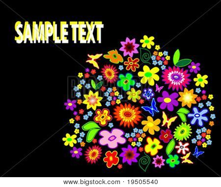Vector Set of the floral elements (See raster version  Also In My Portfolio)
