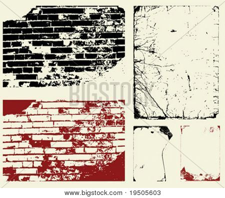 Vector. Set of grunge background