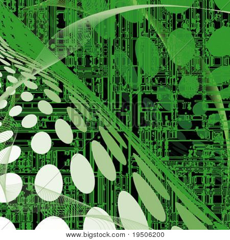 Abstract techno background  Green