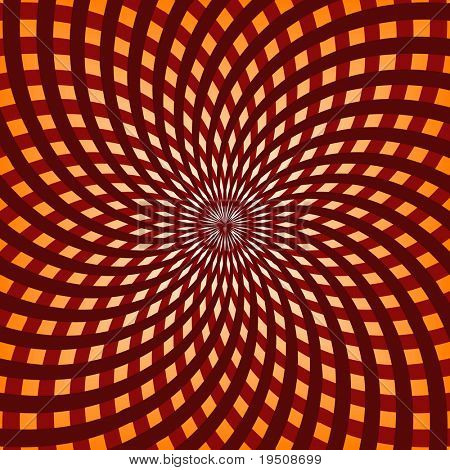 Background the Hypnotic direct rays with a turn are double